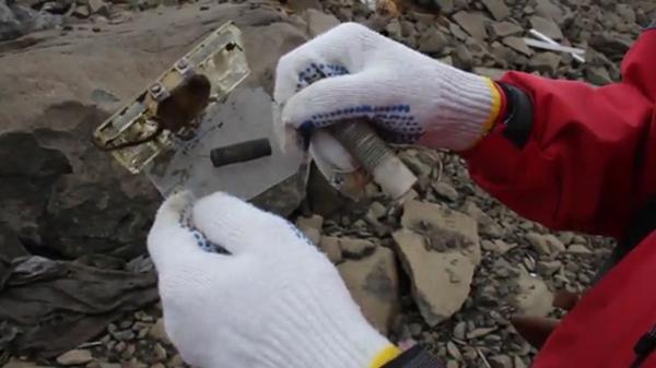Municiones oxidadas fueron halladas en la base secreta en Alexandra Land, en el Ártico