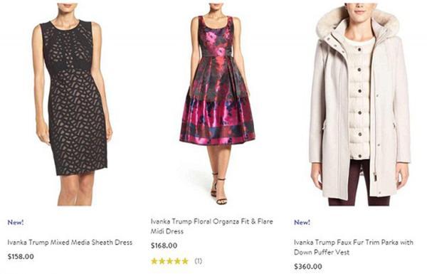 Algunas de las prendas que la línea de vestimenta de Ivanka Trump
