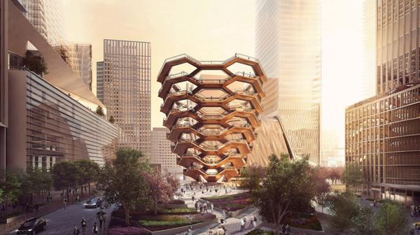 """""""Vessel"""", una estructura futurista que recuerda a un panal de abejas (Forbes Massie)"""
