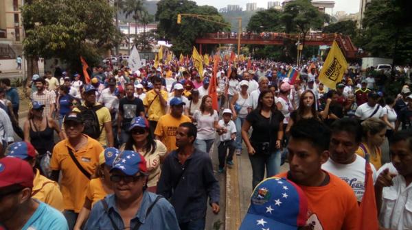 Los venezolanos se movilizaron pacíficamente