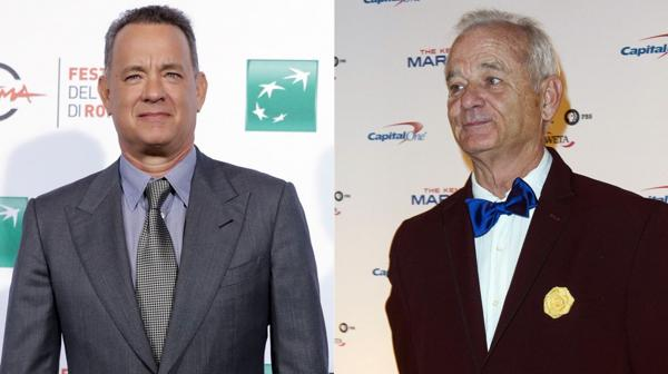 Tom Hanks y Bill Murray, más parecidos de lo que se creía (AP-AFP)