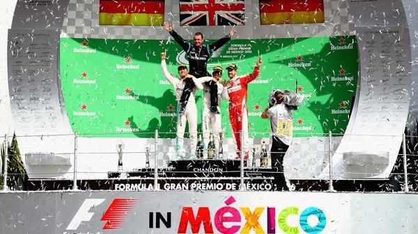 Los ,ás rápidos del Gran Premio de México (AFP)