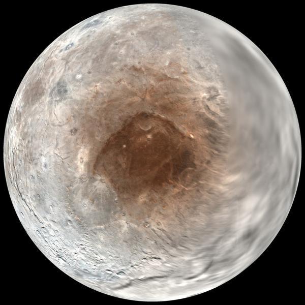 Las fotos de Charon, la luna de Plutón, llegaron en julio de 2016 (AP)