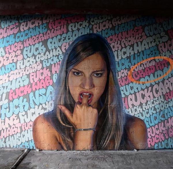 El mural que publicó Justin Theroux en el que aparece un insulto a Brad Pitt