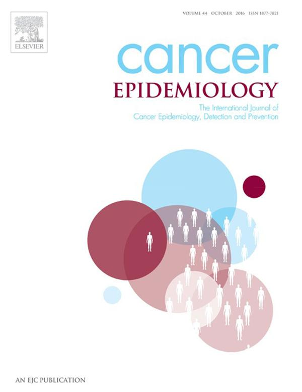 La portada del informe de Cancer Epidemiology