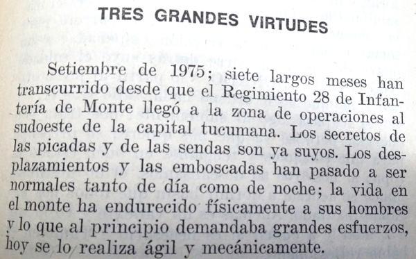 El inicio del relato sobre Rodolfo Hernán Berdina y del soldado Ismael Maldonado (Infobae)