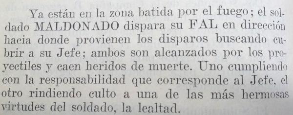 Así contó el Ejército la muerte de Berdina y Maldonado (Infobae)