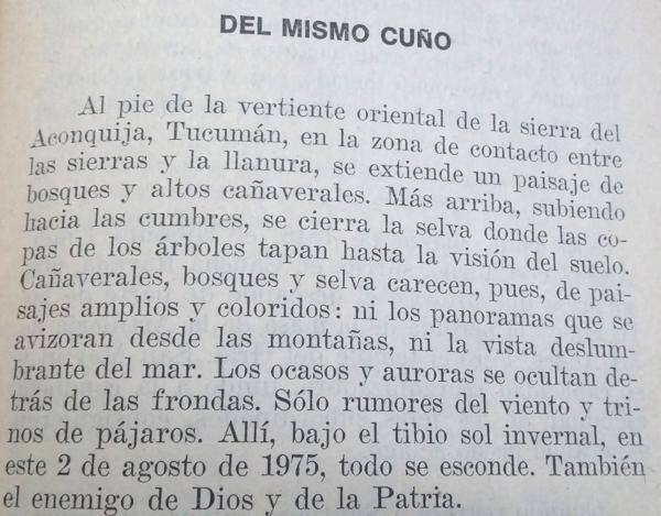 Relato sobre una emboscada del ERP en Tucumán (Infobae)