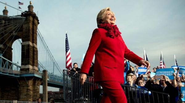 Hillary Clinton, de campaña en Ohio (AP)