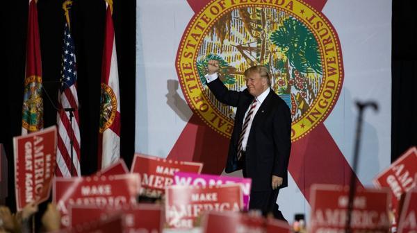 Donald Trump en Florida (AP)