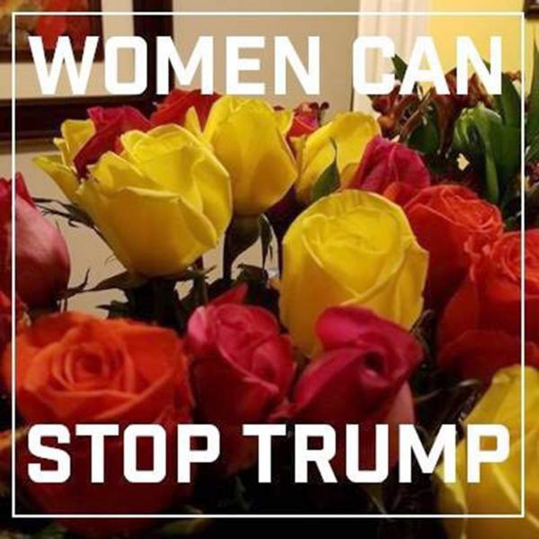 """""""Las mujeres pueden parar a Trump"""", la leyenda que circula en las redes sociales"""
