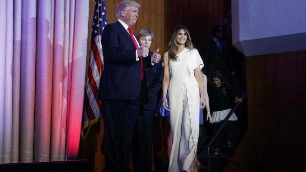 Donald Trump y su esposa, Melania Trump (AP)