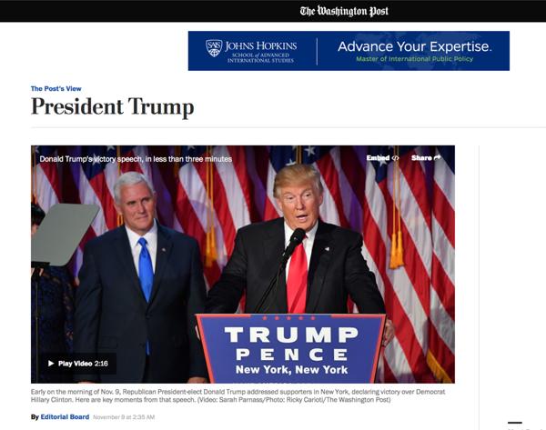 El editorial de The Washington Post