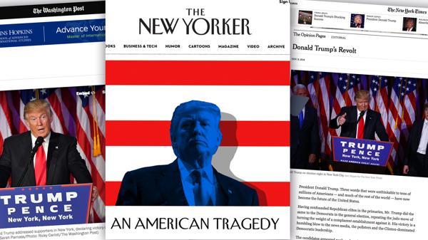 Varios medios estadounidenses difundieron editoriales sobre el presidente electo, Donald Trump