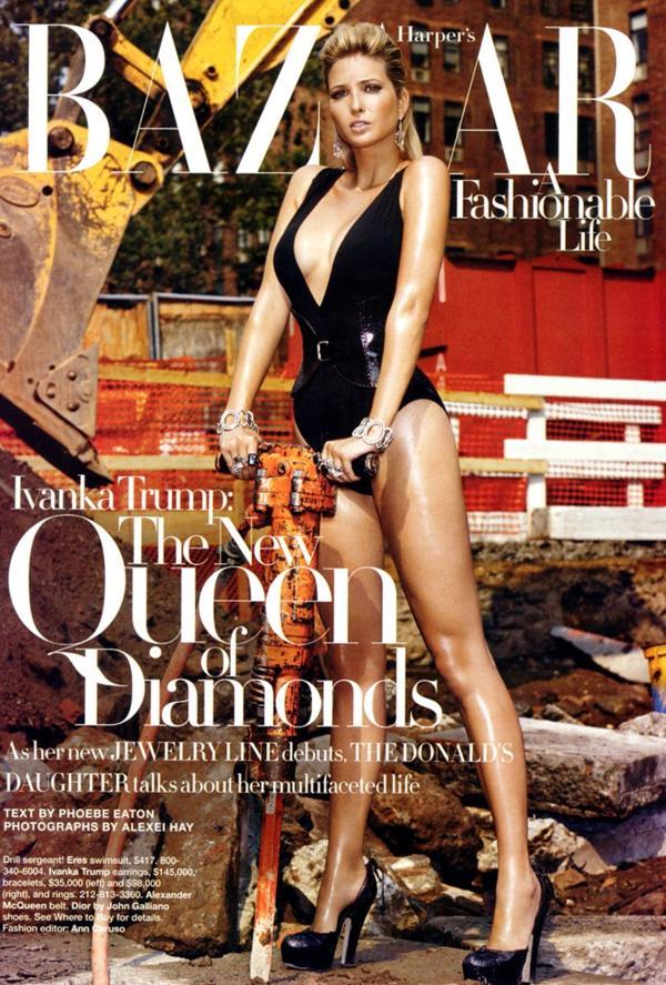 """Ivanka Trump """"La reina de los diamantes"""", en portada de Harper´s Bazaar edición US"""
