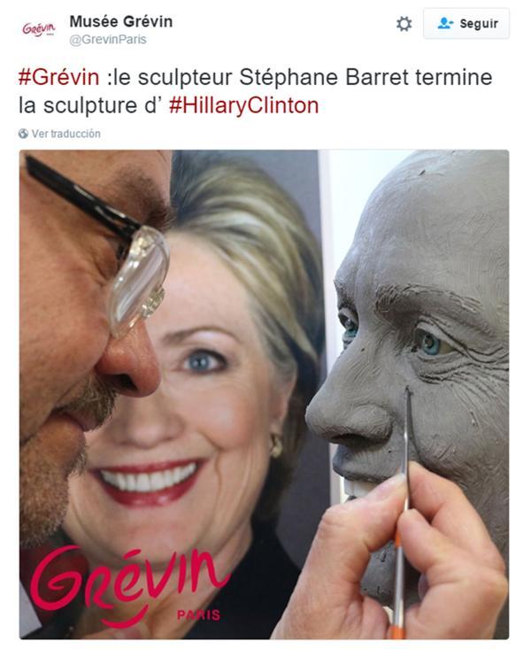 La foto que difundió el museo en su cuenta de Twitter el día de las elecciones presidenciales en los EEUU