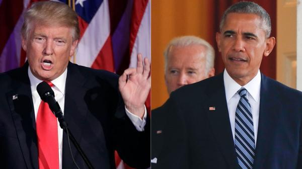 Donald Trump y Barack Obama (AP)