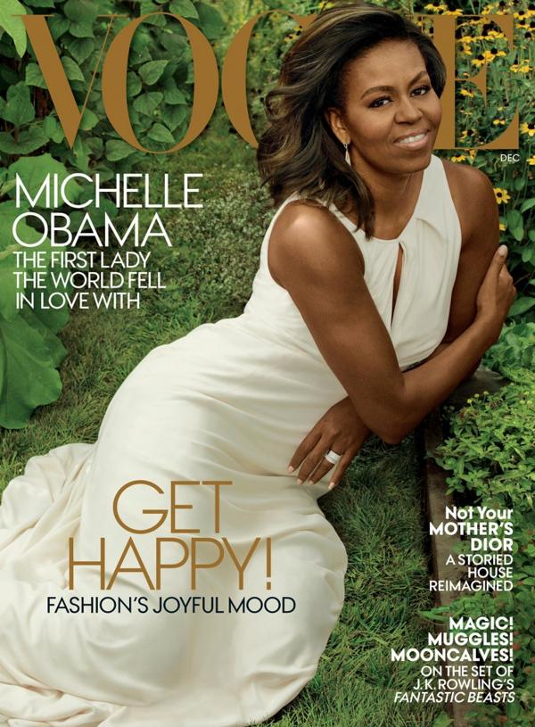 La tapa de la edición de diciembre de Vogue con la producción de la genial Leibovitz.