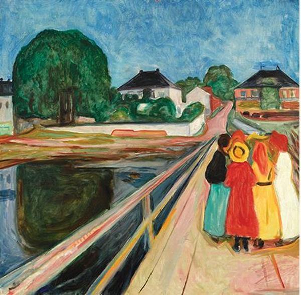 'Muchachas en el puente' fue pintado en 1902 por el artista noruego (Sotheby's)
