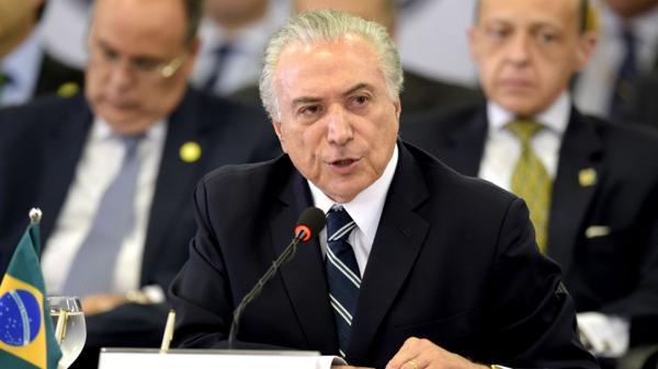Michel Temer anunció un pacto con el Congreso para impedir amnistía en beneficio de políticos corruptos