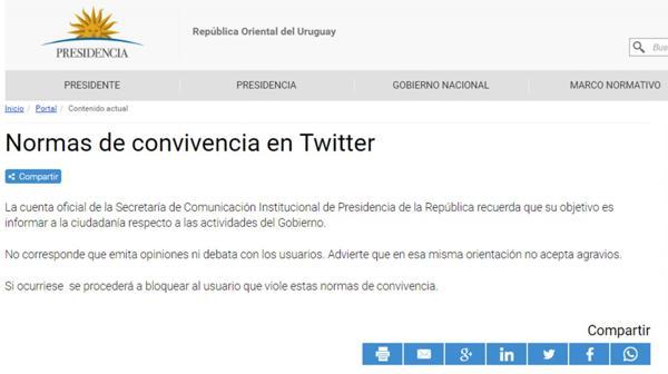 El comunicado de la Presidencia uruguaya