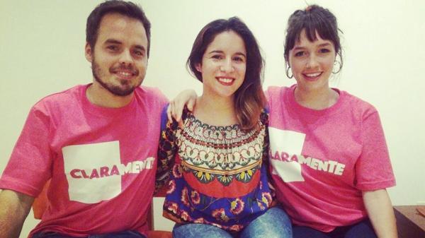Barbara Borello Castillo junto a Benjamín Rojas y Cande Vetrano