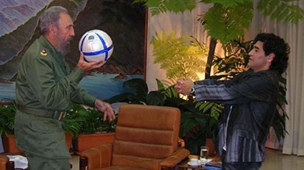 Fidel Castro tuvo una estrecha relación con el ex astro argentino Diego Armando Maradona