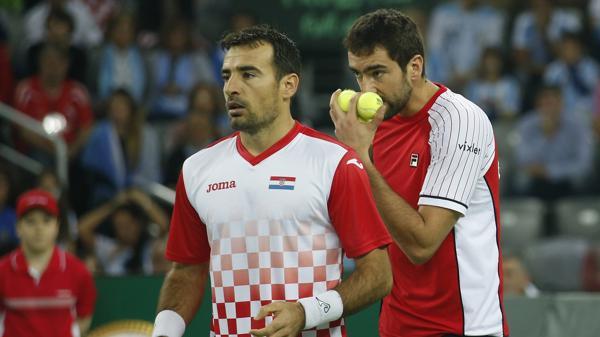 Dodig y Cilic, la pareja croata frente a Argentina en Zagreb (AP)