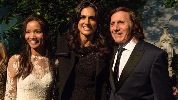 Sabatini, junto a Guillermo Vilas y su esposa (NA)