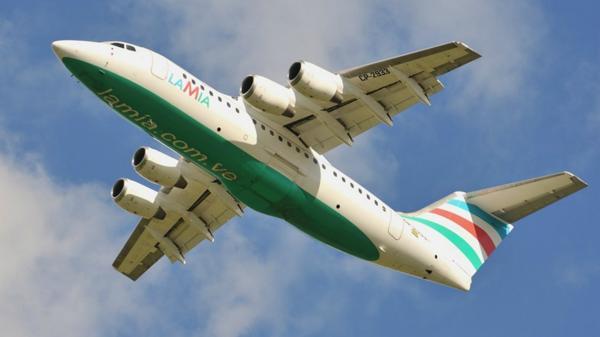 Una foto anterior del mismo avión que se precipitó en Colombia (airport.data.com)