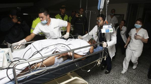 Alan Ruschel fue uno de los sobrevivientes y está hospitalizado en la clínica Somer de Antioquía (EFE)