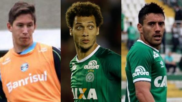 Jackson Follman, Neto y Alan Ruschel son los tres futbolistas que sobrevivieron a la tragedia
