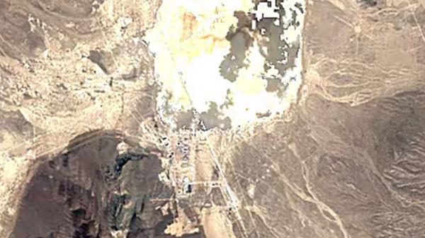 Imagen satelital de la base en 1984