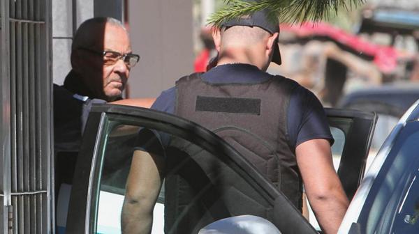 El italiano Nicola Corradi, al momento de ser detenido en Mendoza
