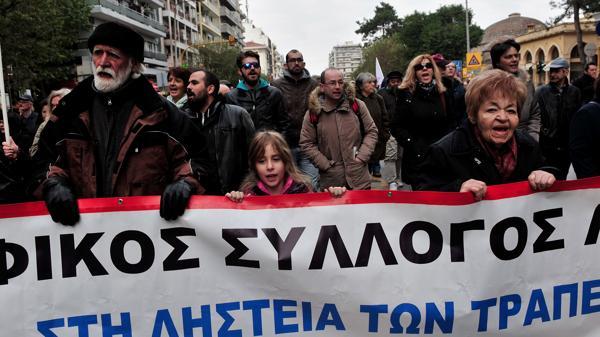 La huelga incluyó a trabajadores ferroviarios, médicos, periodistas, entre otros (AFP)