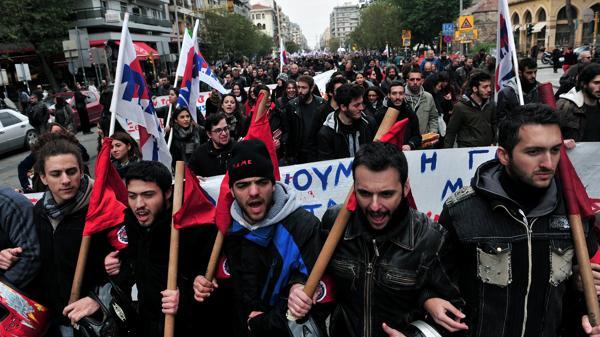 Los principales sindicatos convocaron la medida en contra de un nuevo plan de austeridad (AFP)