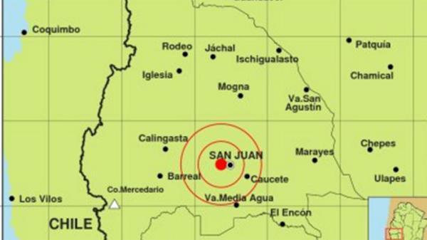 Sismo en San Juan cerce de Caucete 23.43