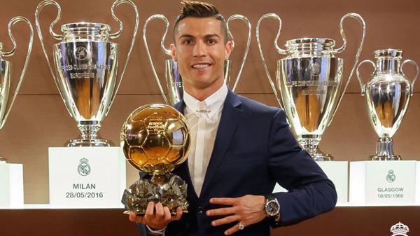 Cristiano Ronaldo obtuvo su cuarto Balón de Oro
