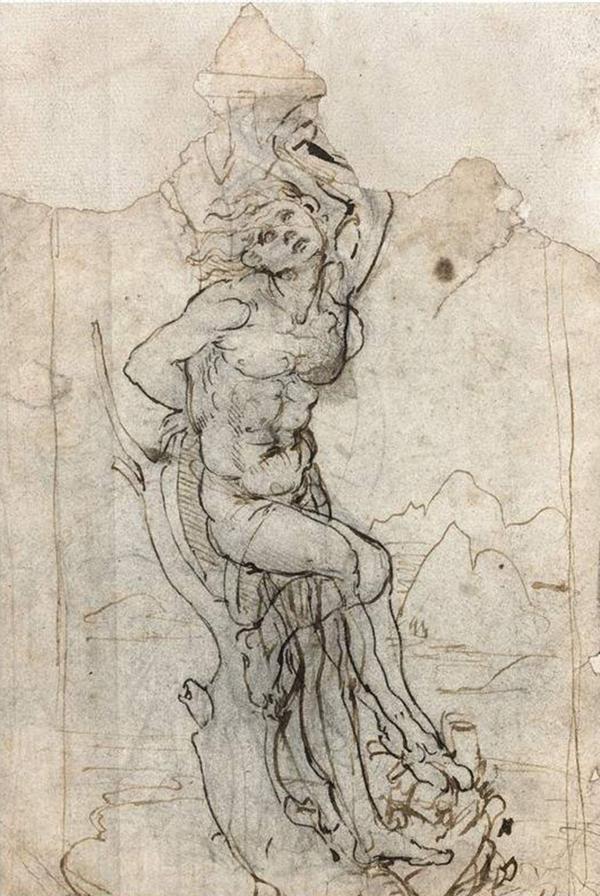 """""""El Martirio de San Sebastián"""", de Leonardo Da Vinci. El boceto estaba perdido desde hacía décadas"""