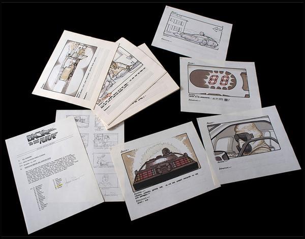 Los bocetos marcan cómo se pensó originalmente el final de Volver al Futuro. Los creadores lo descartaron por sus altos costos
