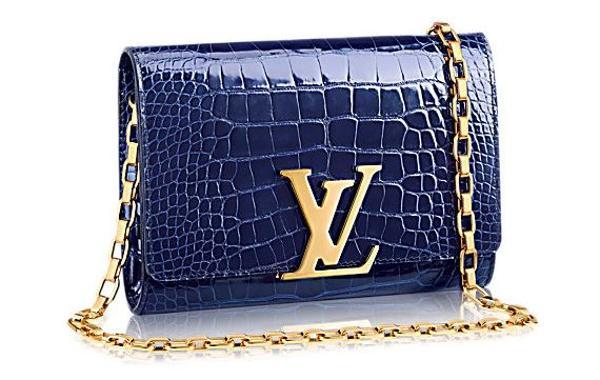Chain Louise, uno de los modelos de la marca Louis Vuitton que tiene piel de cocodrilo. Tiene un valor de 12.600 dólares