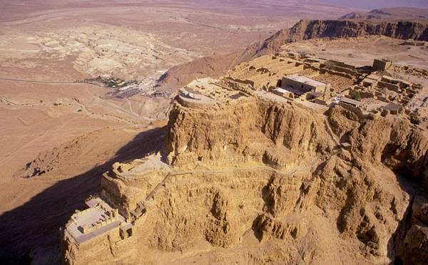 La fortaleza de Masada, en Israel, construida por Herodes el Grande, padre del Herodes biblico