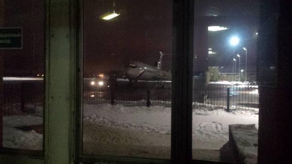 El periodista Eugene Tolstov compartió una foto del avión antes del despegue