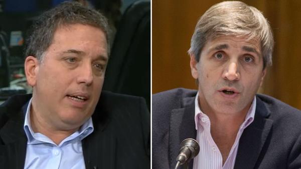 Nicolás Dujovne (ministro de Hacienda) y Luis Caputo (ministro de Finanzas)