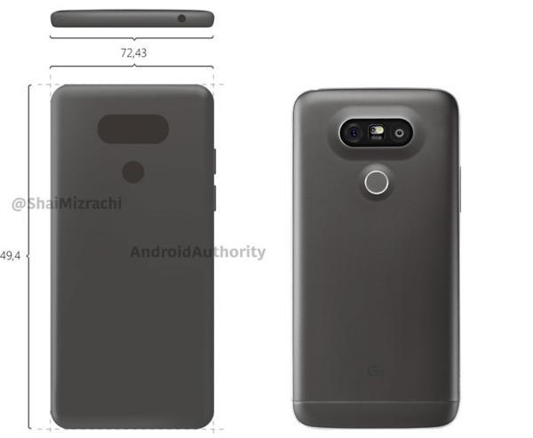 A la izquierda se ve cómo sería el diseño del LG G6, según imágenes filtradas por Shai Mizrachi, y a la derecha figura el LG G5