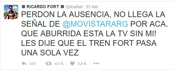El Tuit publicado desde la cuenta de @RicarFort