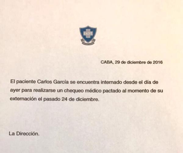 Parte médico de Charly García
