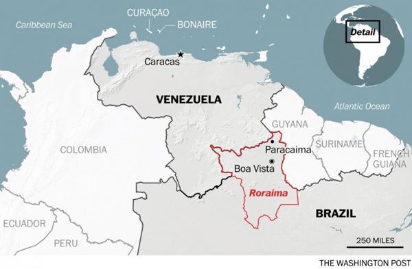 Los venezolanos cruzan a Roraima, en el norte brasileño (The Washington Post)