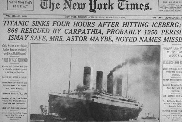 Así anunció la tragedia The New York Times