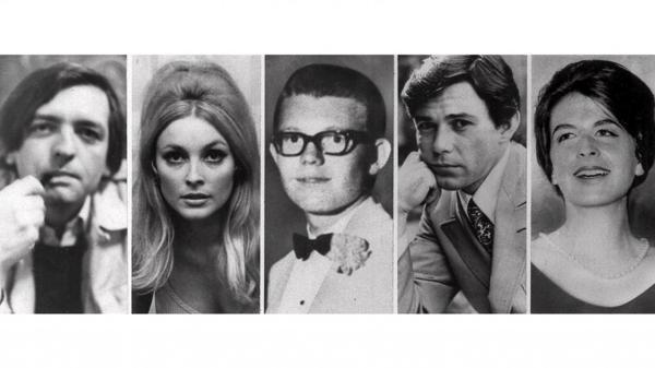 """Las victimas de la """"Familia de Manson"""" que se encontraban en la casa del director Roman Polanski: Voytek Frykowski; Sharon Tate; Stephen Parent, 18, que había ido a visitar a un amigo y fue encontrado muerto en su auto; la peluquera de la familia Jay Sebring, 35; y Abigail Folger (AP)"""